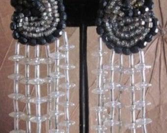 Sale Vintage 1970's Beaded Drop Earrings