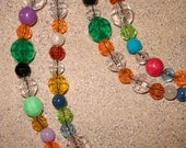 Vintage Bead Layering Fall Fashion Necklace - One of a Kind