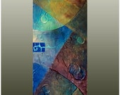 New Horizons - Original Textured Painting 8 x 24 Acrylic on Canvas - Abstract Modern