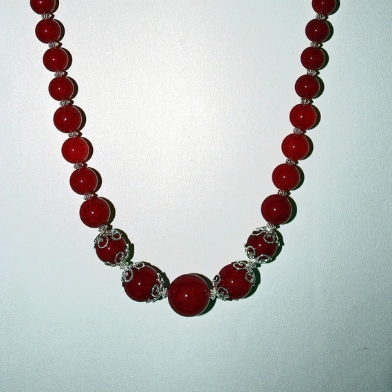Natural Ruby Beaded Necklace (WAS 350.00)