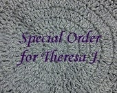 RESERVED Listing for Theresa J.   - 5 ft Scarves