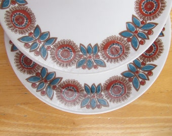 "Figgjo Flint Salad Plates - Turi Design - ""Astrid"" Pattern - set of two"