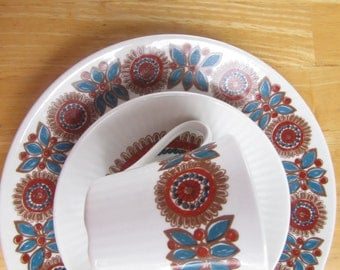 "Figgjo Flint Bread and Butter Plates - Turi Design - ""Astrid"" Pattern - set of four"