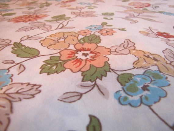 Wallflowers - Vintage FULL flat bedsheet