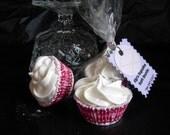 Mini Cupcake Bath Bomb Fizzies - Strawberry Shortcake