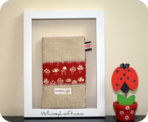 SALE -Pouch - iPhone, Android, cell phone, mobile phone, handphone - Japanese cotton linen