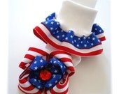 Patriotic Ruffle Socks and Bow Set