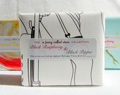 Wholesale Handmade Scented Soap - Black Raspberry and Black Pepper x 10