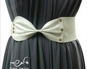WHITE BELT - white leather belt -  white Bow Belt,  White Leather,  Waist Belt , Hip Belt, Wide Belt, Women Belt