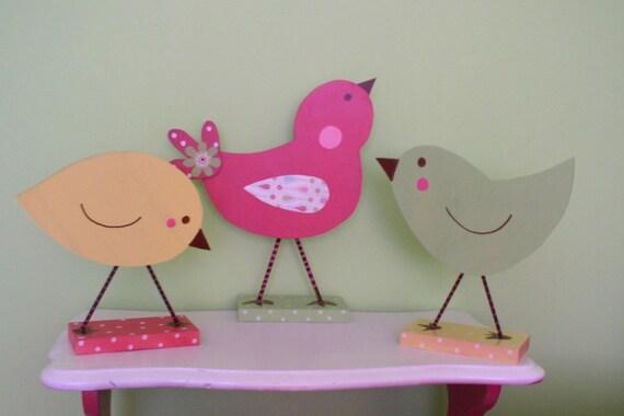 Wooden Bird Trio
