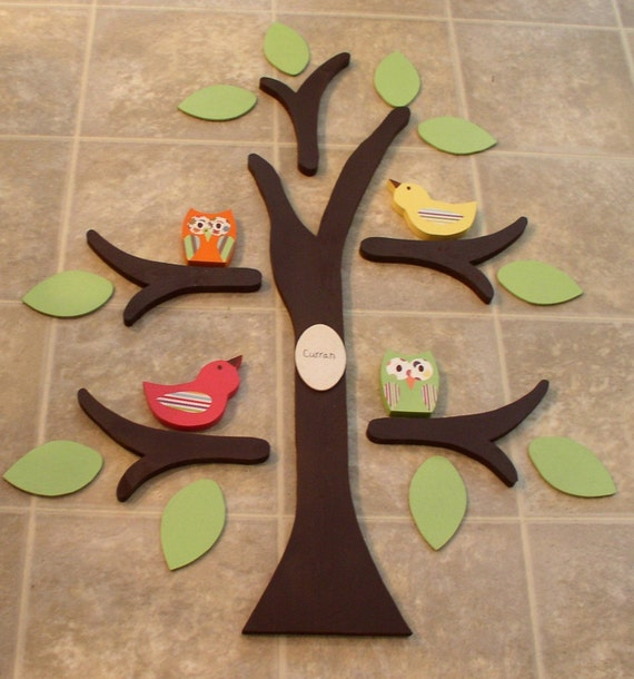 Wooden Wall Decor For Nursery : Wooden tree wall decor nursery made from by thewoodenowl