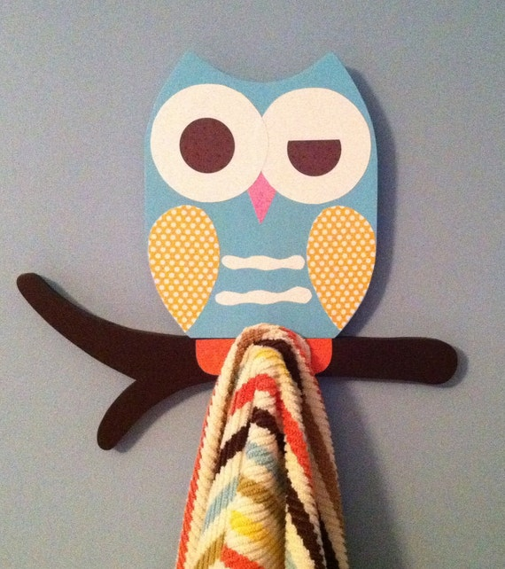 Items Similar To Owl Towel Rack Owl Bathroom Decor Kid 39 S