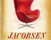Modern Design Deck - J is for Jacobsen  - small print - of  a mid century icon