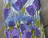 vintage vera set of 6 beautiful purple crocus napkins