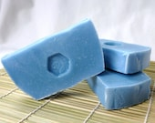 Bright Blue - DG Light Blue Type - hints of jasmine, white roses, and citron - Cold Process Vegan Soap