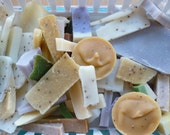 Grab Bag of Soap Scraps - 1 lb of soap pieces - Cold Process Vegan Soap - Free muslin bag for scraps