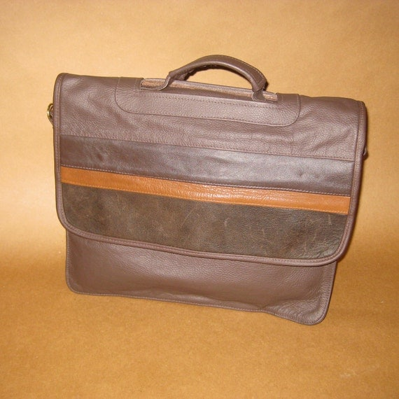SALE-50% off Delux Leather Laptop Briefcase Shoulder Crossbody Bag -The Madison