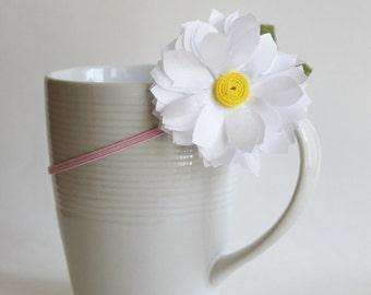 Handmade Daisy on Skinny Elastic