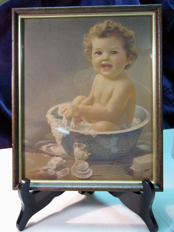Vintage Bessie Pease Gutmann Style Bubbles Baby Original