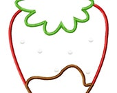 Chocolate Covered Strawberry Machine Embroidery Applique Design