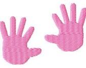 Baby Hand Prints Machine Embroidery Mini Design