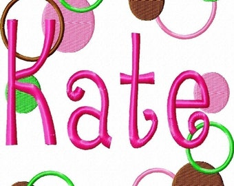 Crazy Dots Frame Machine Embroidery Design  2 sizes