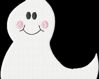 Ghost Machine Embroidery Design Single  Fill Stitch