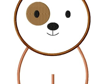 Puppy Machine Embroidery Applique Design 2 sizes
