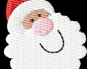 Christmas Santa Face Machine Embroidery Design Mini