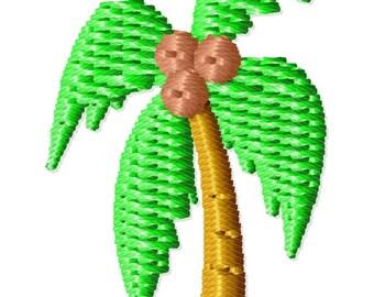 Palm Tree Machine Embroidery Design Mini