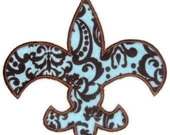 Fleur de lis Machine Embroidery Applique Design