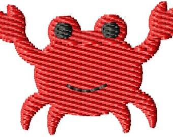 Cute Crab Machine Embroidery Design Mini