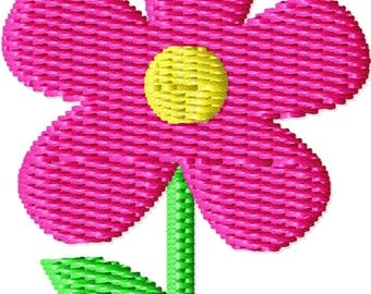 Simple Flower Mini Machine Embroidery Design