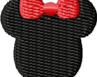 Girl Mouse Ears Machine Embroidery Design Mini