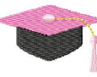 Graduation Hat Mini Machine Embroidery Design