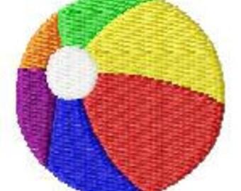 Beach Ball Mini Machine Embroidery Design