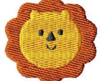 Lion Machine Embroidery Mini Design