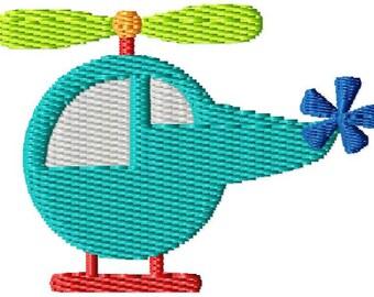 Helicopter Mini Machine Embroidery Design