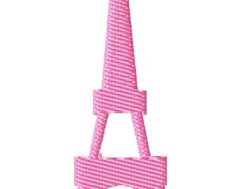 Eiffel Tower Machine Embroidery Mini Design