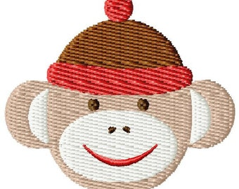 Sock Monkey Mini Machine Embroidery Design