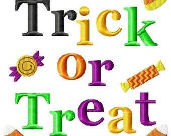 Trick or Treat Machine Embroidery Design Single