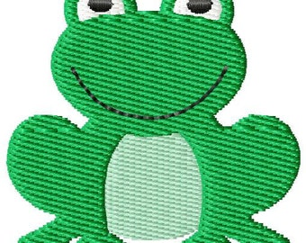 Frog 2 Mini Machine Embroidery Design