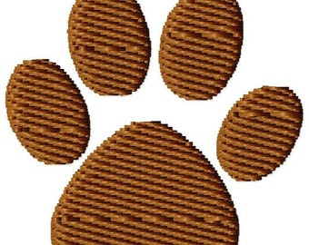 Puppy Paw Print Machine Embroidery Mini Design