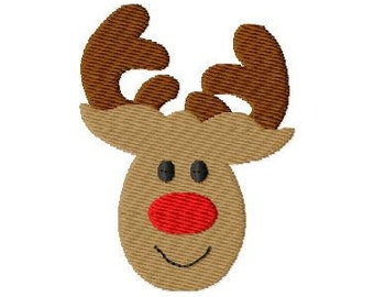 Rudolph Mini Machine Embroidery Design