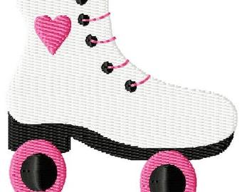 Roller Skate Mini Machine Embroidery Design