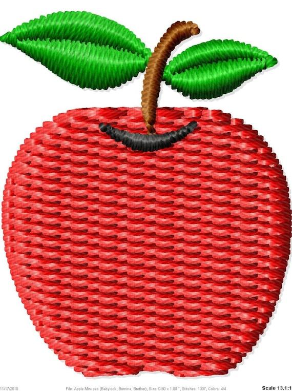 Apple Machine Embroidery Design Mini