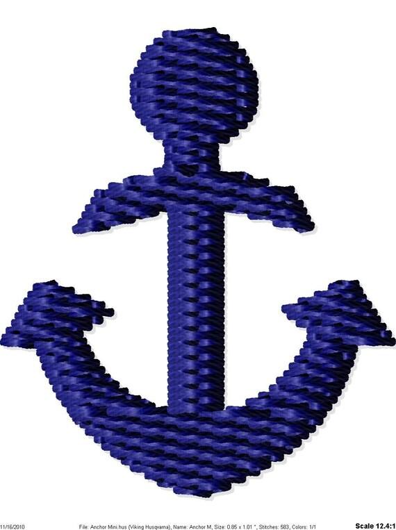 Anchor Machine Embroidery Mini Design