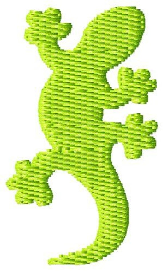 Gecko Machine Embroidery Design Mini