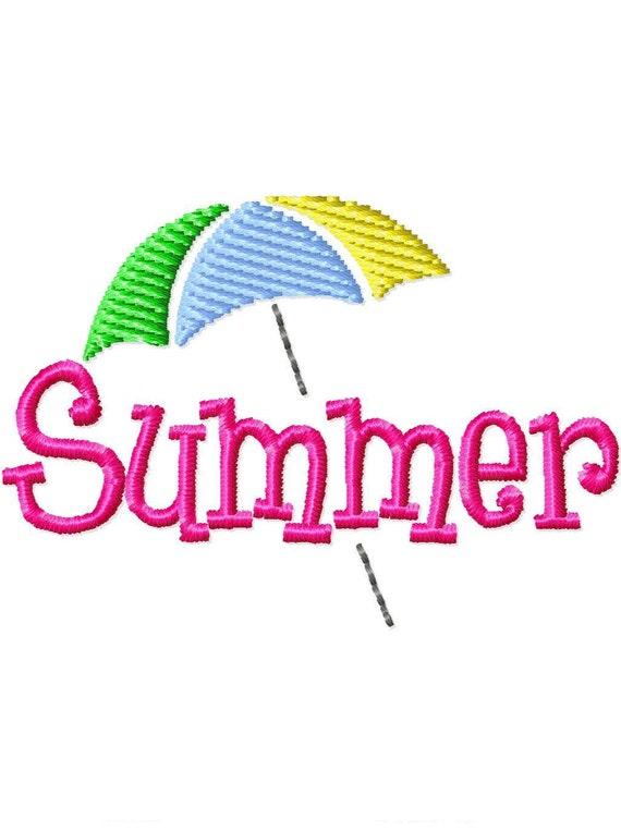 Summer Umbrella Mini Machine Embroidery Design