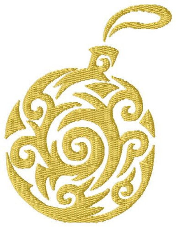 Swirl christmas ornament machine embroidery design for How to design a christmas ornament